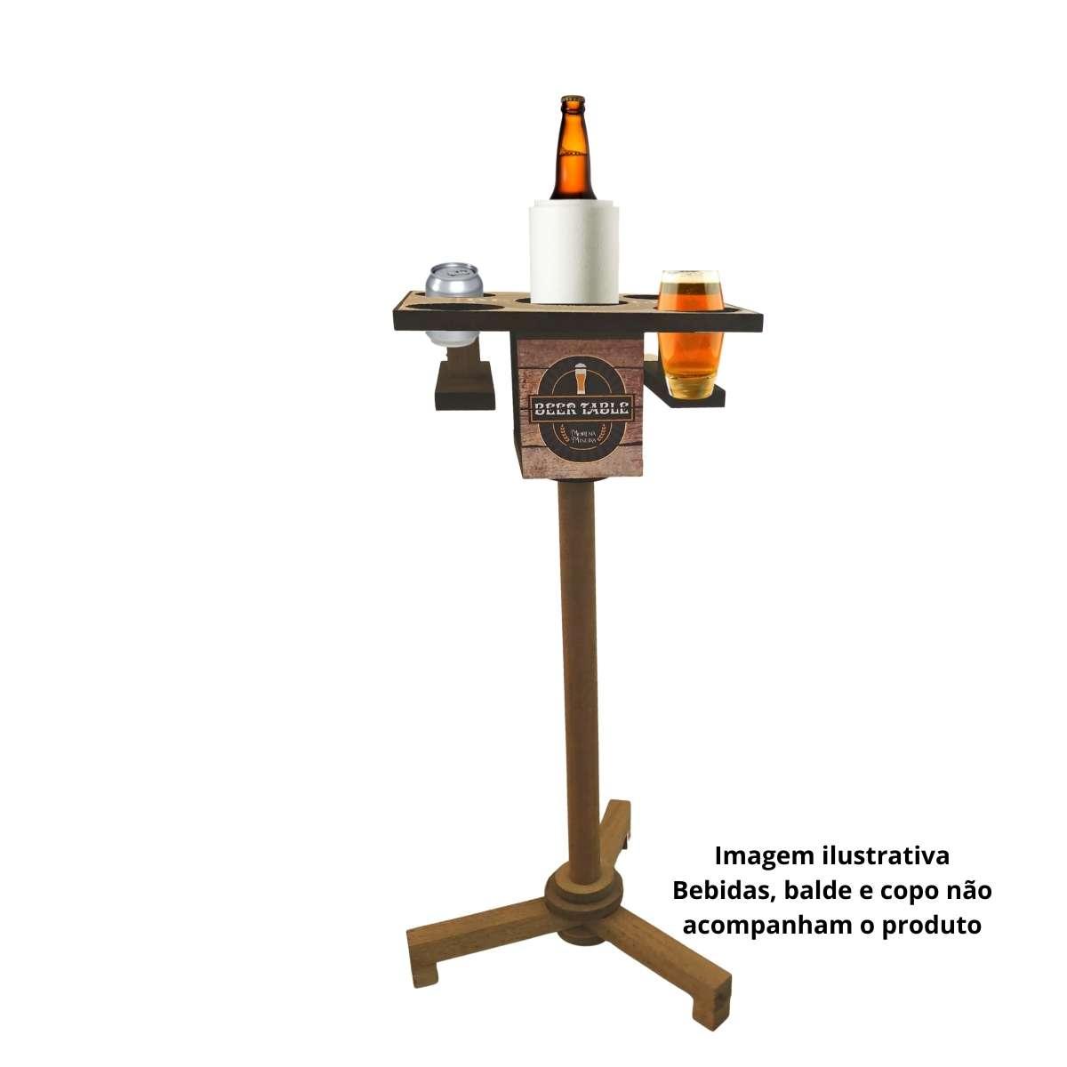 Mesa auxiliar porta Bebida Beer Table  - Emphática
