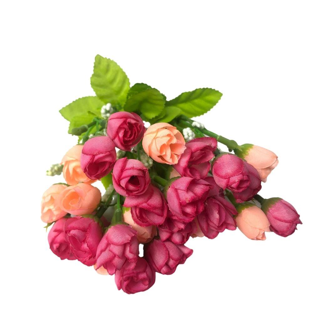 Mini Buque Rosas Artificiais c/ 2 ramos  - Emphática