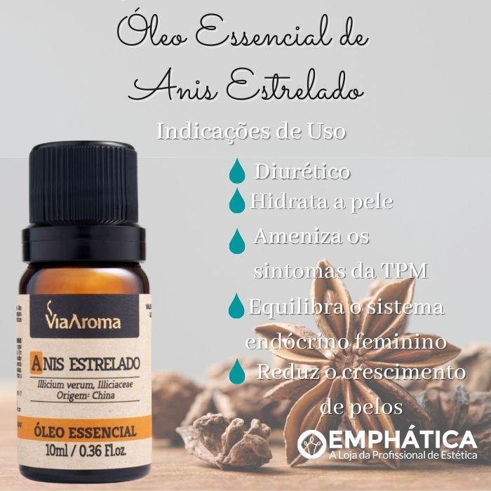 Óleo Essencial 100% Natural 10ml - Anis Estrelado (Via Aroma)  - Emphática