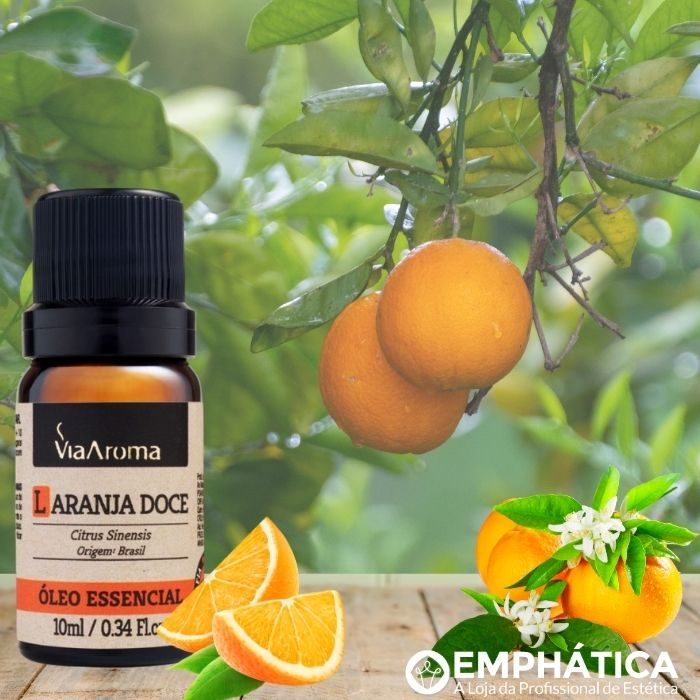 Óleo Essencial 100% Natural 10ml - Laranja Doce (Via Aroma)  - Emphática