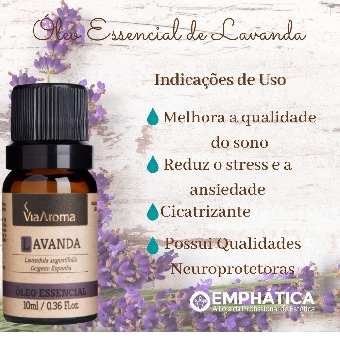 Óleo Essencial 100% Natural 10ml - Lavanda (Via Aroma)  - Emphática