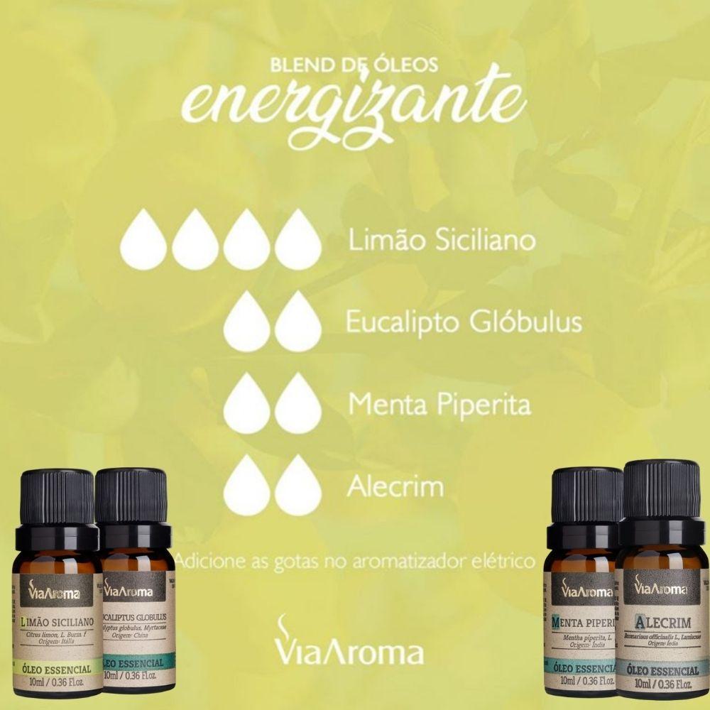 Óleo Essencial 100% Natural 10ml - Menta Piperita (Via Aroma)  - Emphática