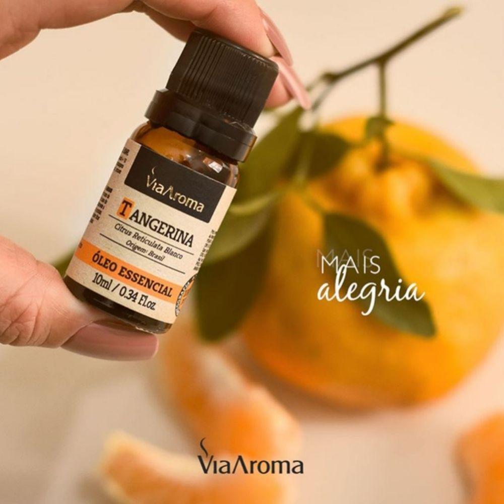 Óleo Essencial 100% Natural 10ml - Tangerina (Via Aroma)  - Emphática