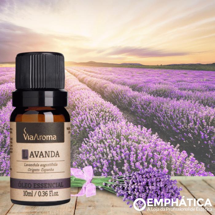 Óleo Essencial 10ml - Alecrim + Lavanda + Eucaliptus Globulus + Limão Siciliano (Via Aroma 100% Natural)  - Emphática