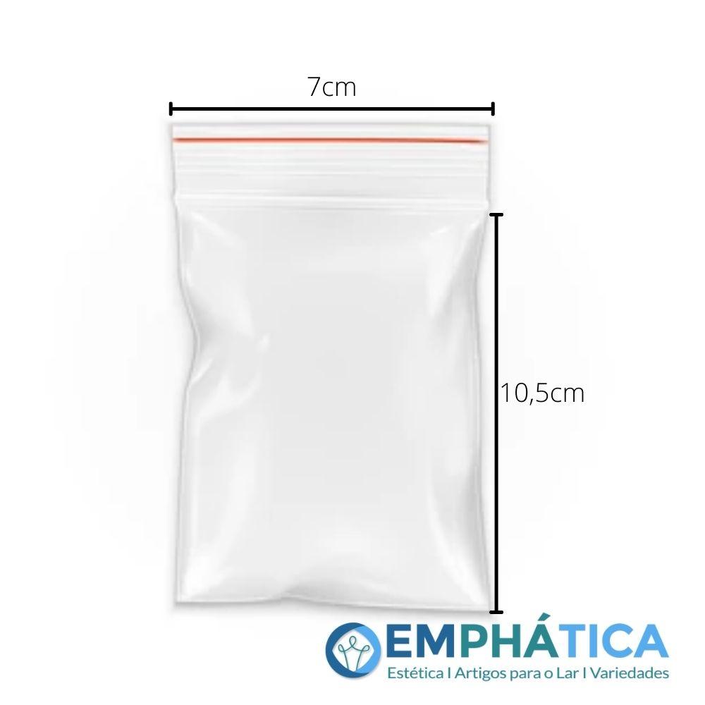 Saquinho Tipo Ziplock nº 03 7 x 10,5 cm c/1000  - Emphática