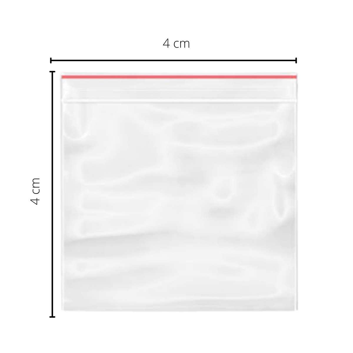 Saquinho Tipo Ziplock Nº0  04x04cm  c/1000  - Emphática