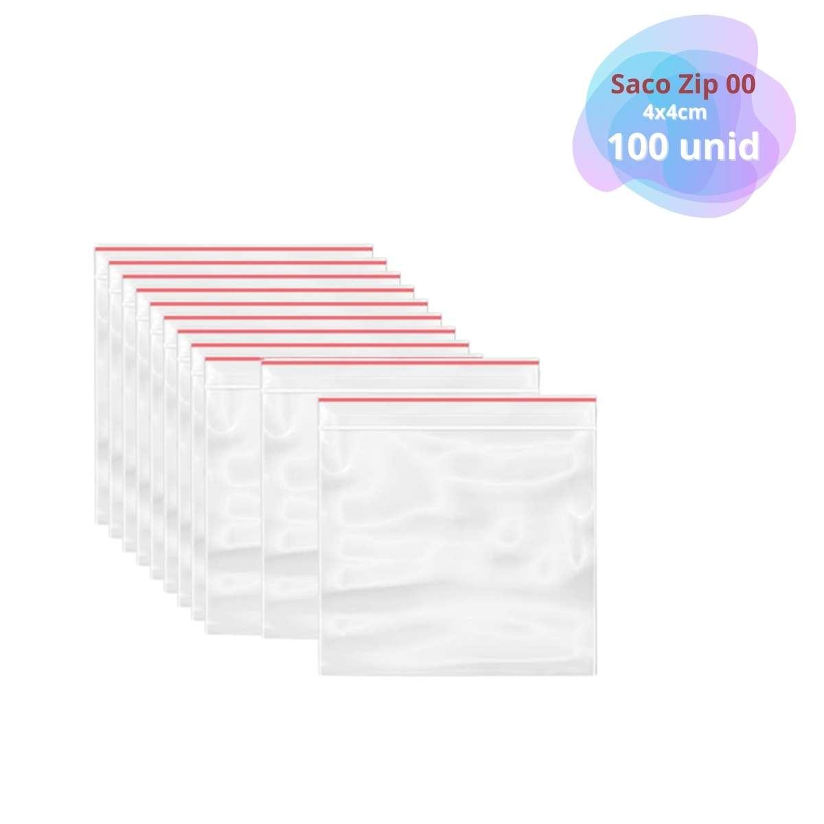 Saquinho Tipo Ziplock Nº0  04x04cm c/100  - Emphática