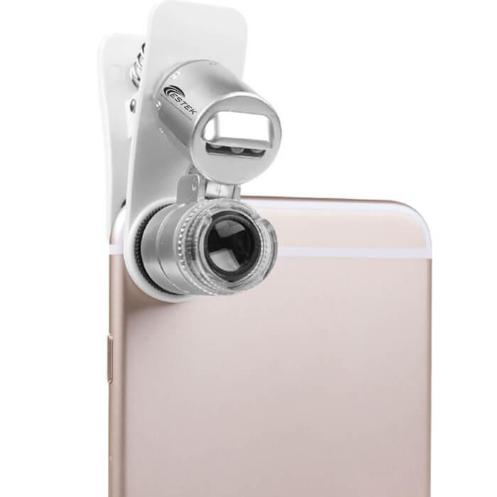 Smart Scope 60x Lente de Aumento para celular - Análise de Pele e Capilar (Estek)  - Emphática