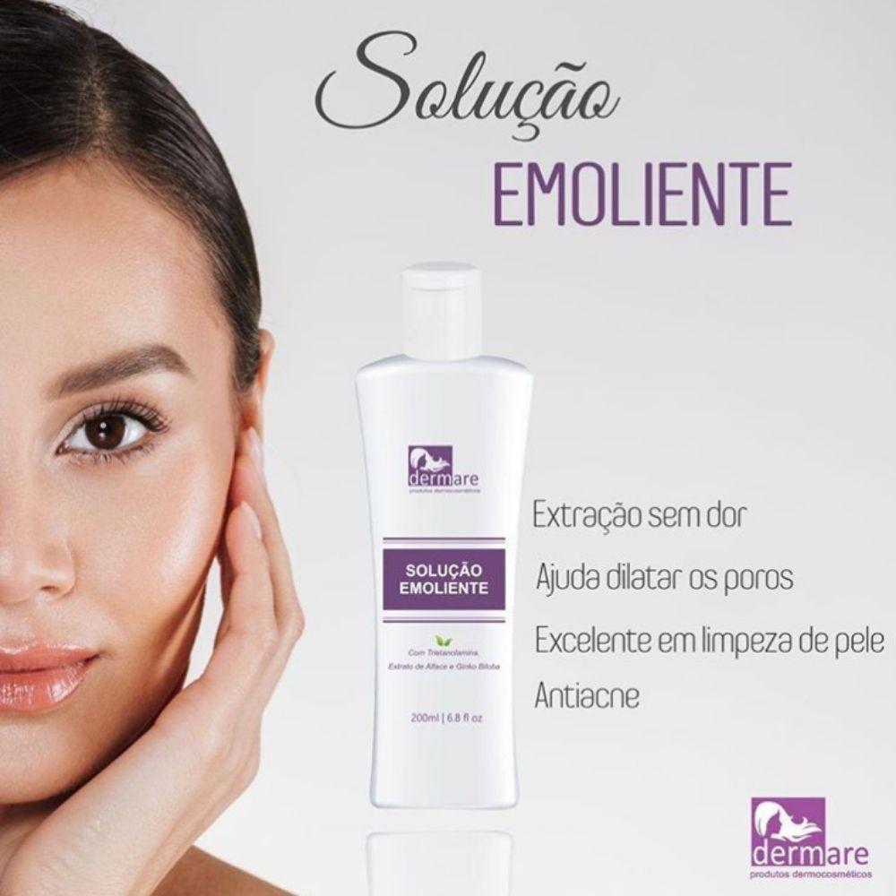 Solução Emoliente - Dilata Os Poros 200ml (Dermare)  - Emphática