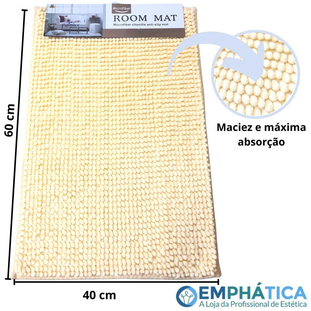 Tapete Microfibra Antiderrapante 60cm x 40cm  - Emphática