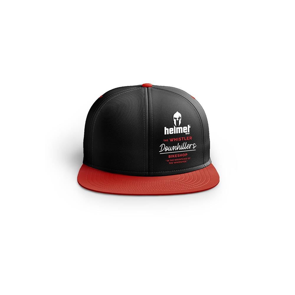 Boné Helmet SW Whistler Preto e Vermelho