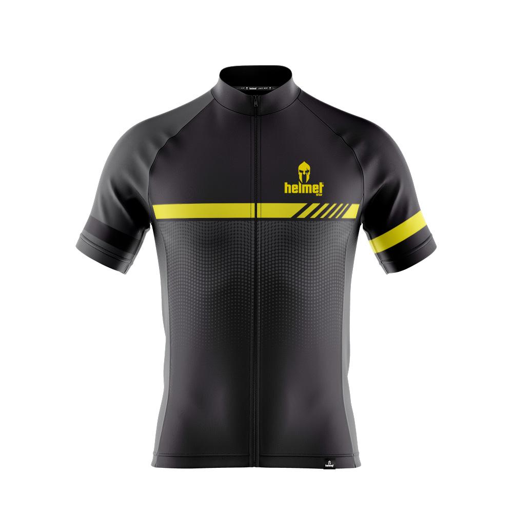 Camisa de XC Helmet SW Drizzle Chumbo e Amarela Masculina
