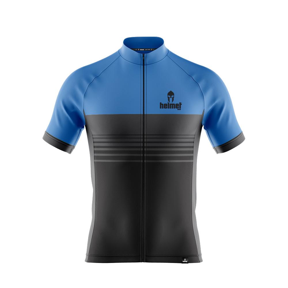 Camisa de XC Helmet SW Stripes Azul Masculina