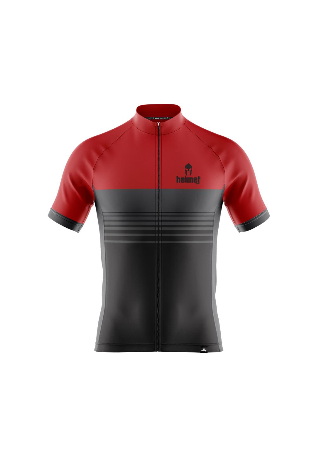 Camisa de XC Helmet SW Stripes Vermelha Masculina