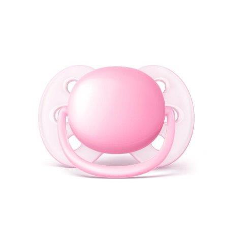 Chupeta Ultra Soft 0-6m Rosa - Philips Avent