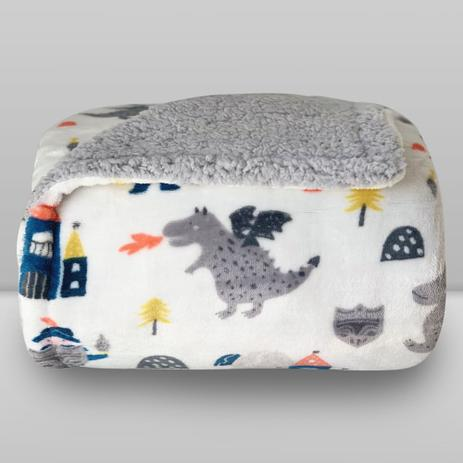 Cobertor Kids Plush com Sherpa Knight - Laço Bebê