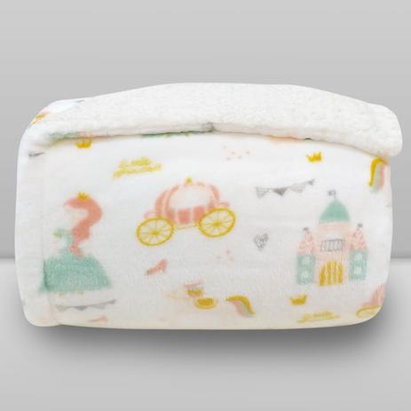 Cobertor Kids Plush com Sherpa Princess - Laço Bebê