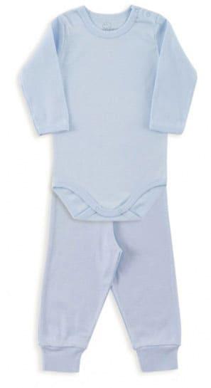 Conjunto Bebê Body Canelado Azul- Dedeka