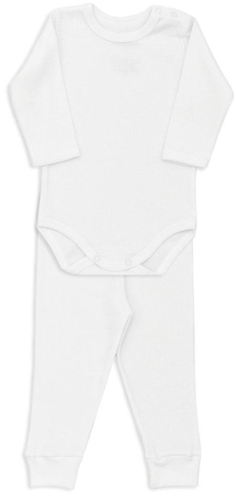 Conjunto Bebê Body Canelado Branco - Dedeka