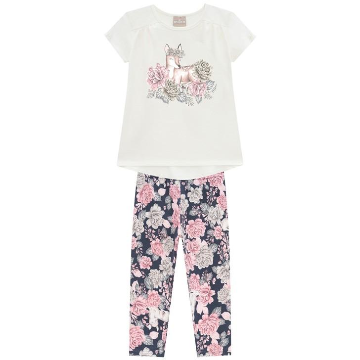 Conjunto Blusa e Legging Flores - Milon