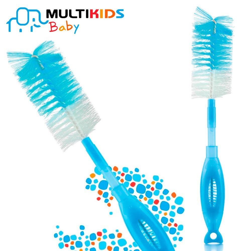 Escova Limpa Mamadeira e Bico 2 em 1 - MULTIKIDS