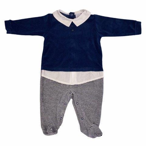 Macacão Bebê Plush Suéter Azul - Piu Piu
