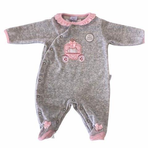 Macacão Bebê Plush Suéter Rosa - Piu Piu