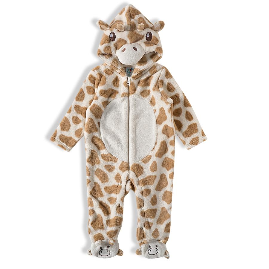 Macacão pelúcia girafa -Tip Top