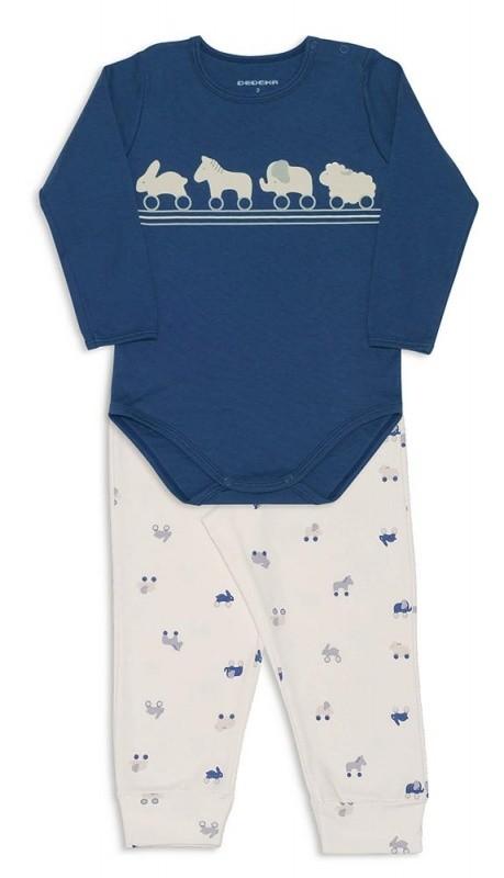 Pijama com body brinquedos de madeira suedine -  Dedeka