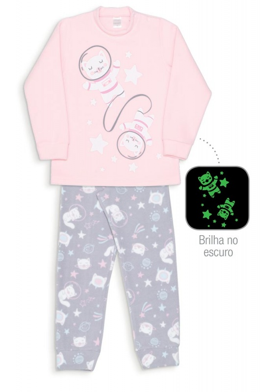 Pijama Gata Espacial kids soft- Dedeka