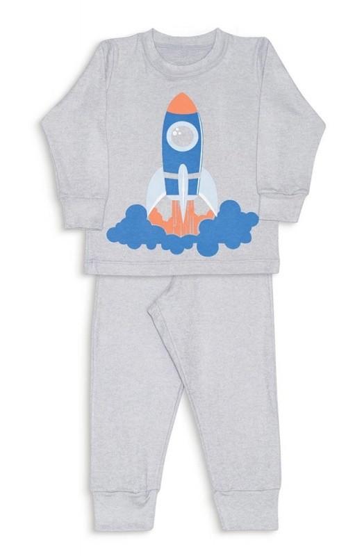 Pijama infantil foguete melange - Dedeka