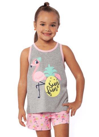 Pijama Manga Curta Regata Flamingo Kids