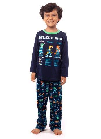 Pijama Manga Longa Dino Elite Kids - Puket