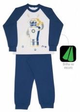 Pijama robô algodão e modal -  Dedeka