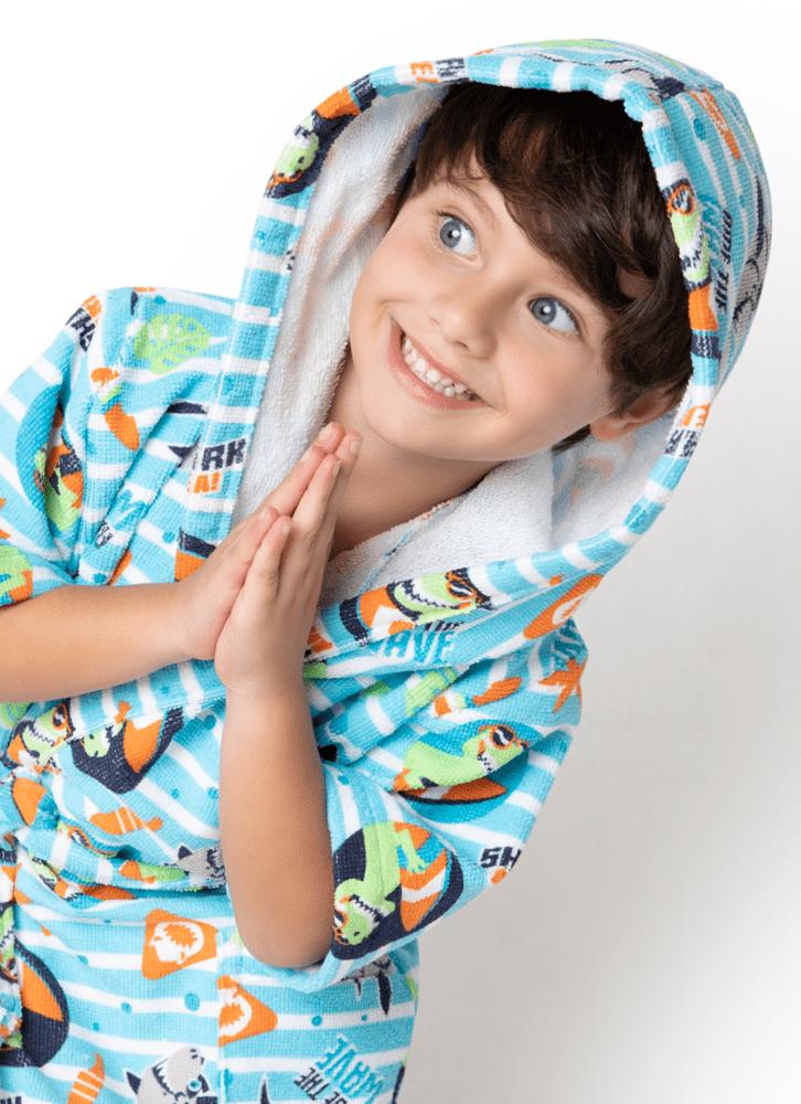 Roupão divertido multibichos menino - Puket