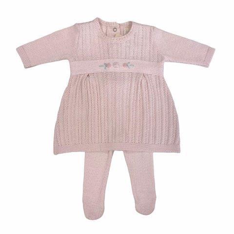 Saída de Maternidade Tricô Menina Pérola RN - Milly Baby
