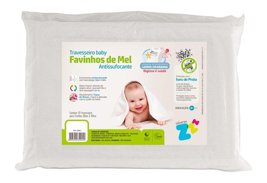 Travesseiro Favinhos de Mel Antissufocante 6+ - Fibrasca