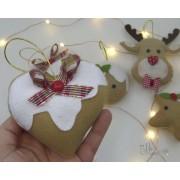 Enfeite de Natal Coração