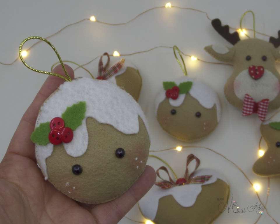Enfeite de Natal Ginger, Coração e Estrela Kit 8 Peças