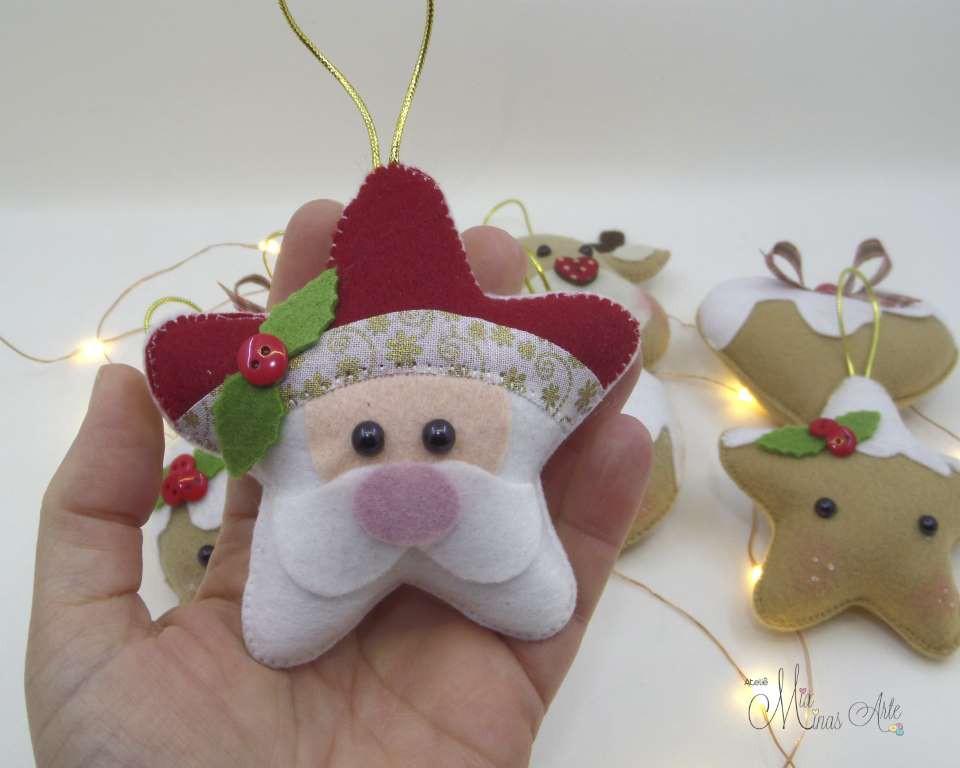Enfeite de Natal Papai Noel