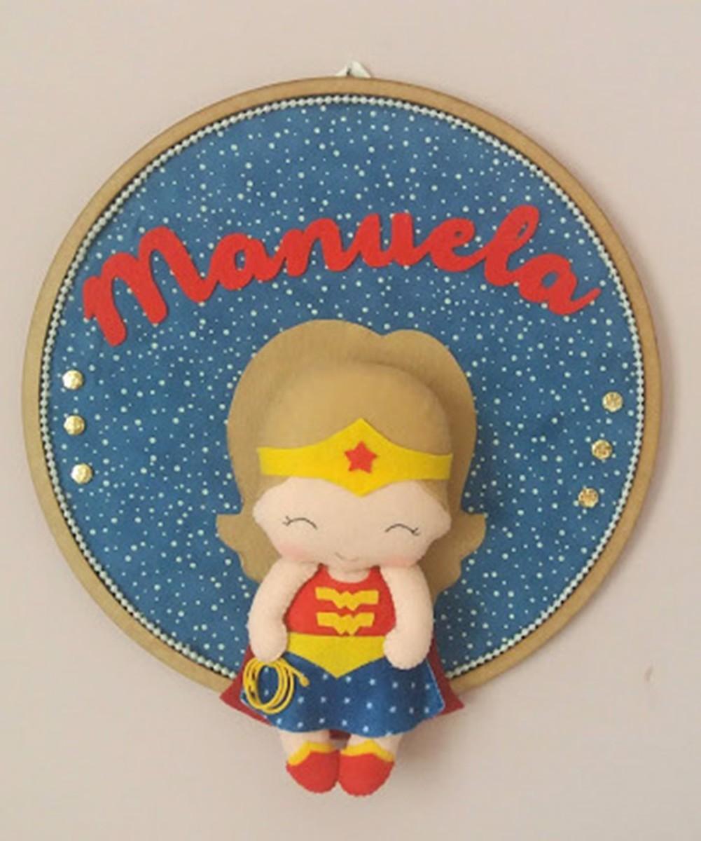 Enfeite de Porta Maternidade  Super Heróina