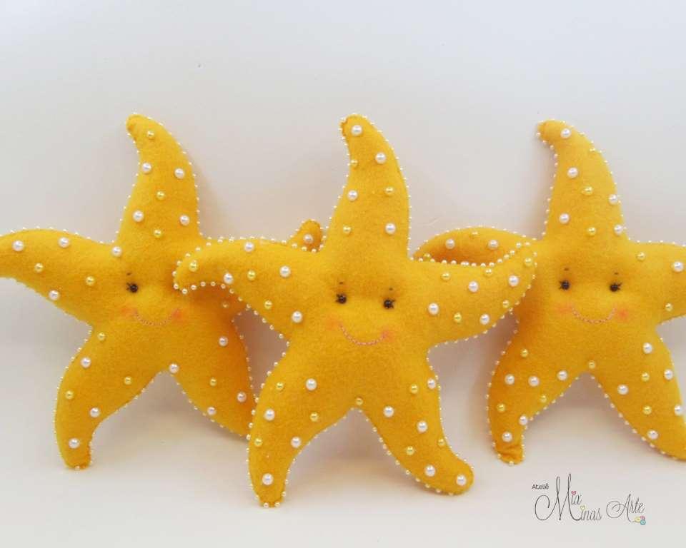 Estrela do Mar em Feltro Decoração