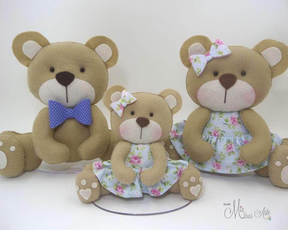 Família de Ursinhos  para Nicho ou Chá de Bebê