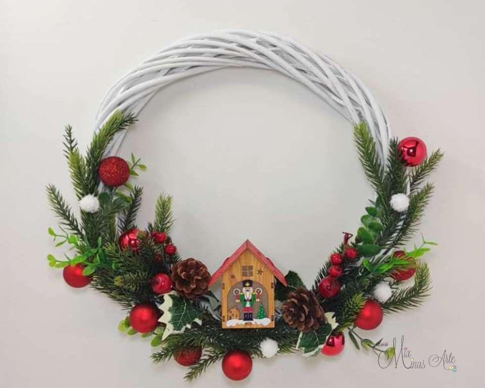 Guirlanda Natal Branca Rústica