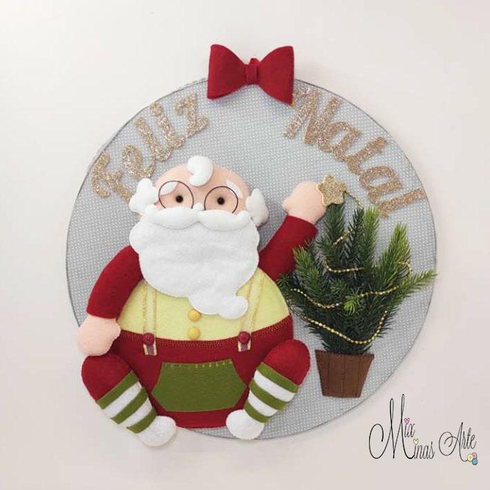 Guirlanda Natal Papai Noel e Arvore de Natal