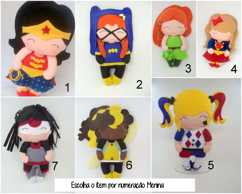 Enfeites Super Heróis e Heroínas
