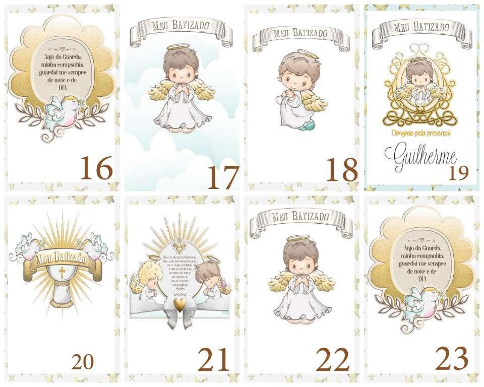 Lembrancinha Batizado  Marcador de Biblia  Anjinho Orando