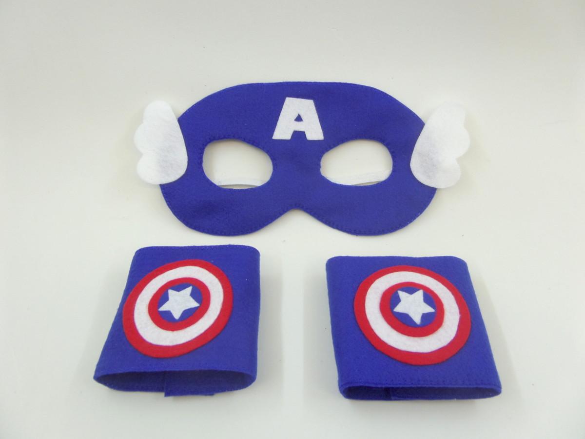 Mascara e Bracelete Capitão América