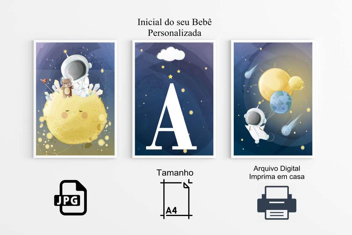 Quadros  Poster Astronauta Decoração Arte Digital ( Imprima em Casa)