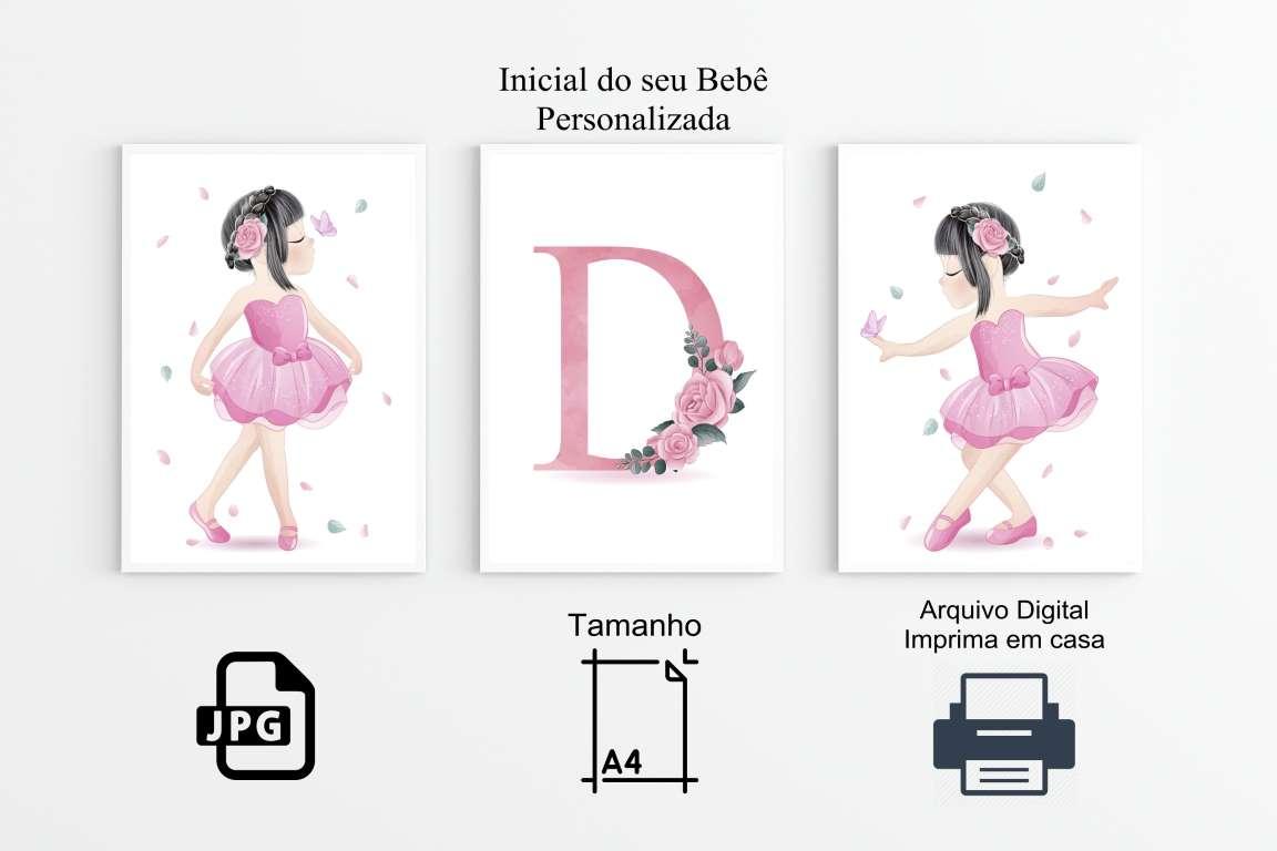 Quadros  Poster Bailarina Decoração Arte Digital ( Imprima em Casa)